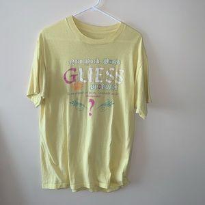 """Vintage Guess """"Products"""" T shirt. (Men's L) RARE"""